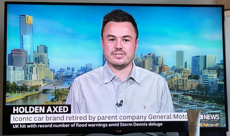 Paul Maric speaking on ABC News about the closure of Holden in Australia