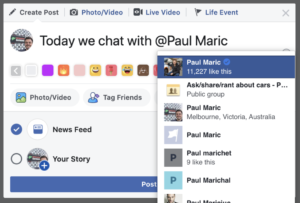 How to tag Paul Maric on Facebook