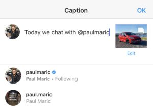 How to tag Paul Maric on Instagram